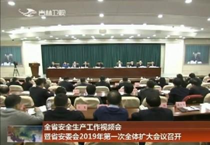 全省安全生产工作视频会暨省安委会2019年第一次全体扩大会议召开