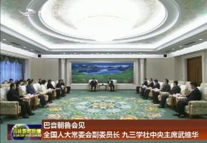 巴音朝鲁会见全国人大常委会副委员长 九三学社中央主席武维华