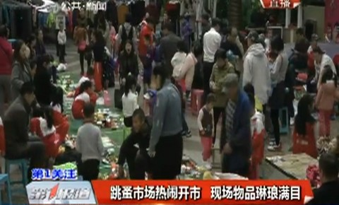第1报道|跳蚤市场热闹开市 现场物品琳琅满目
