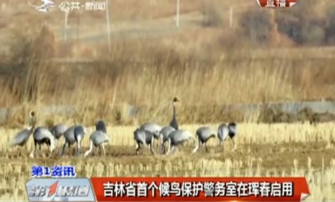 第1报道|吉林省首个候鸟保护警务室在珲春启用