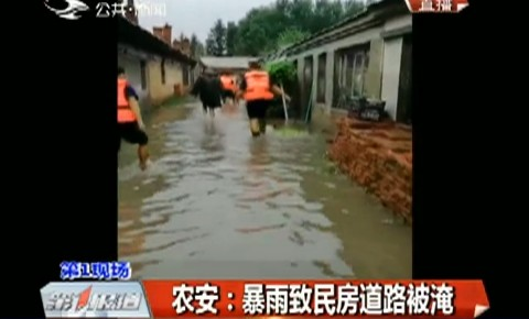 第1报道 农安:暴雨致民房道路被淹