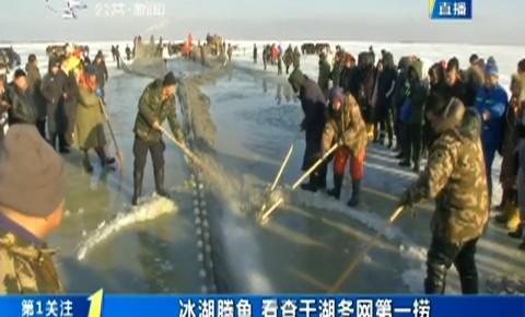第1报道|冰湖腾鱼 看查干湖冬网第一捞