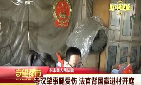 守望都市|东丰县:老汉肇事腿受伤 法官进村开庭