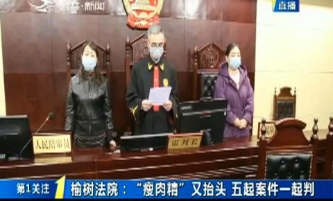 """第1报道 榆树法院:""""瘦肉精""""又抬头 五起案件一起判"""