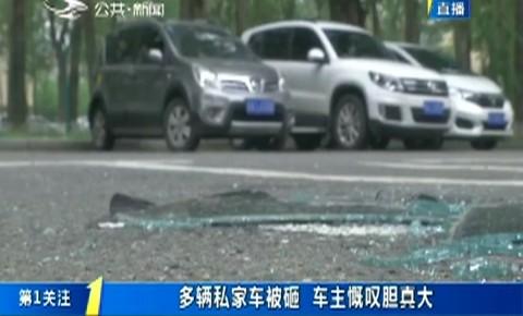第1报道|多辆私家车被砸 车主慨叹胆真大