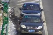 太危险!两车高速同时倒车驾驶员还在打电话