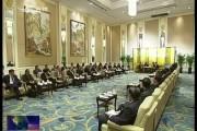 巴音朝鲁会见出席第四届世界产业领袖大会暨国际产能合作论坛嘉宾