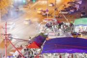 长春支农大街与飞跃路交会处露天烧烤大排档噪声响太扰民