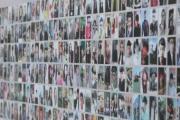 长春大学毕业季现46米长笑脸墙 共有1800张学生照片