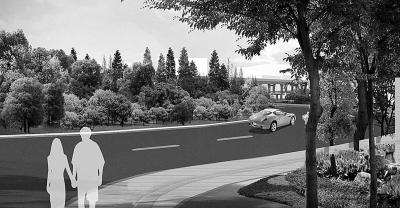 南湖广场绿化景观效果图-长春 5条快速路5条绿化景观带 打造7大景观