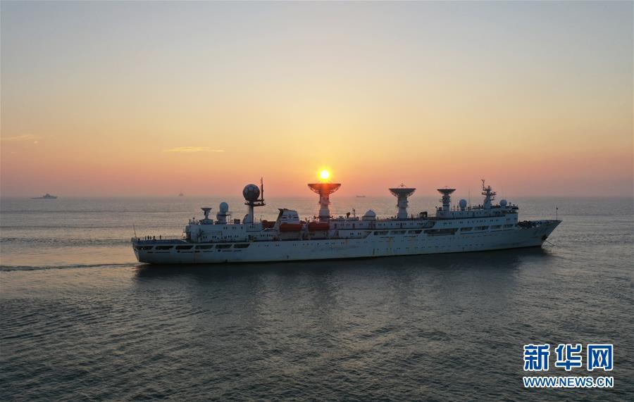 (科技)(1)远望3号船安全驶入长江入海口