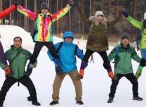 长春市举办首届雪地徒步穿越赛