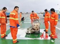 吉林省首条微信无感专用车道开始施工