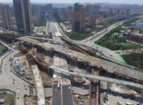 """难道这是新的""""断头桥""""吗?长春生态广场互通立交桥双主线桥主跨架设完成!"""