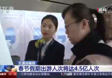交通运输部:春节假期出游人次将达4.5亿人次