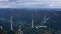世界第一高混凝土桥主塔封顶 相当于110层楼高