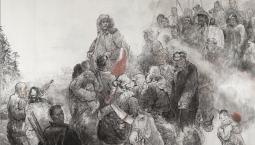 甘灑熱血寫春秋丨人民英雄楊靖宇百米組畫·第二篇章 發動群眾