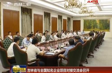 吉林省与全国知名企业项目对接交流会召开