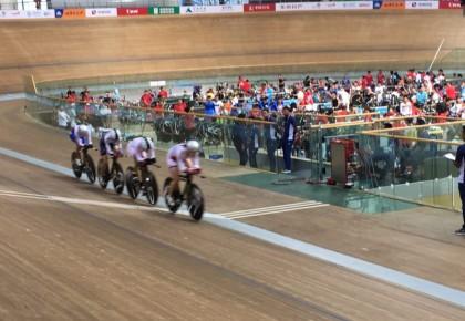 自行车女子场地团体追逐赛 吉林成功晋级半决赛