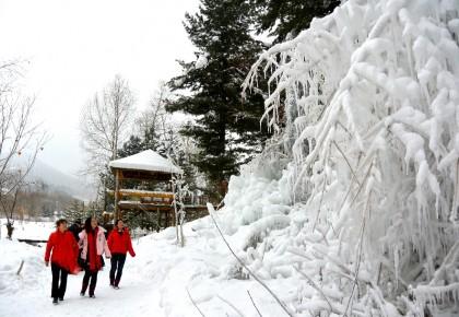嬉雪赏冰八里坡