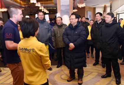 """景俊海在吉林市調研時指出 打造冰雪""""名片""""發展壯大冰雪產業 發揮資源優勢兌現""""冰天雪地""""價值"""