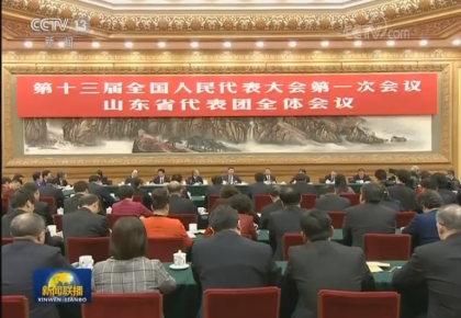 习近平参加山东代表团审议