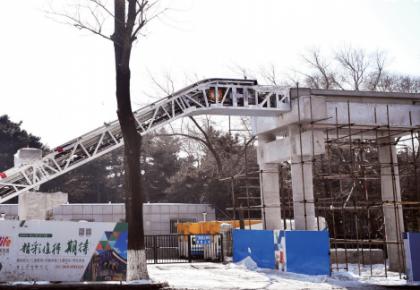 长春市首座带电梯过街天桥预计5月建成