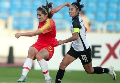女足亚洲杯:中国女足半场发威四球击溃泰国队