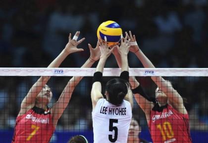 世界排球联赛:中国女排0:3不敌韩国遭遇新年首败