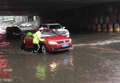【视频】延吉、通化等地突降暴雨 部分车辆被困