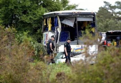 加拿大一大巴车发生交通事故 伤者均为中国游客