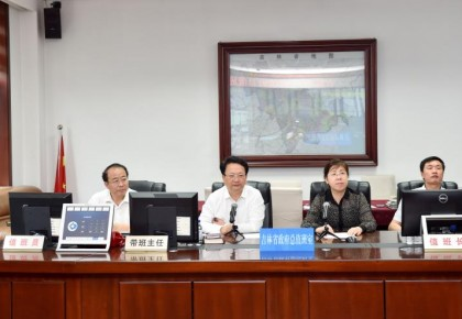 景俊海到省政府应急办调度防汛工作时强调 密切关注加强防范严阵以待 确保人民群众生命财产安全