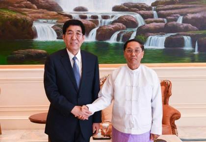 """巴音朝鲁率我省代表团在缅甸访问  积极参与""""一带一路""""建设  以务实合作推动双方共赢发展"""