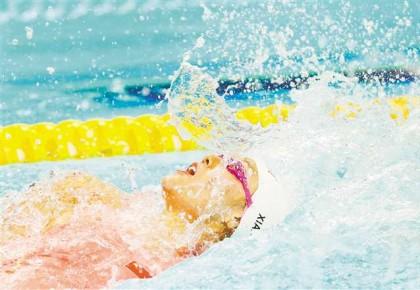 刘湘50米仰泳夺冠 26秒98打破世界纪录