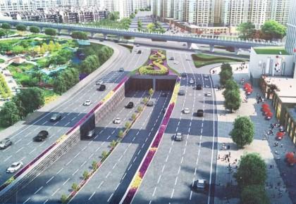 长春南四环路下穿临河街隧道主线通车进入倒计时90天