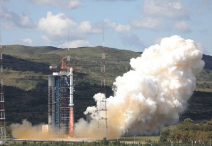 """中国在太原成功发射""""海洋一号C""""卫星"""