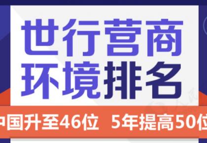 营商环境排名中国升至46位,5年提高50位