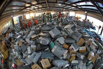 我国去年快递业务量完成400.56亿件 居世界第一