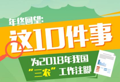 """图解丨年终回望:这10件事为2018年我国""""三农""""工作注脚"""