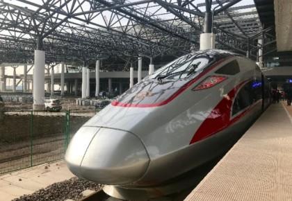 """春运新高铁上演""""杂技组合"""" 看看到底有多稳?"""