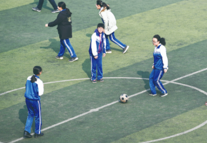 長春市中考體育科目增加足球運球繞標志物選項