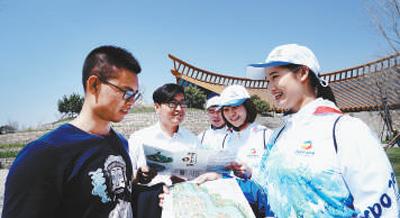 做好全面准备 迎接全球游客(北京世园会风采)