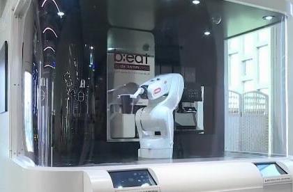 【聚焦数字中国建设峰会】刷脸进门 机器人服务 韩国5G智能办公室亮相