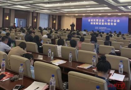 全省民营企业、中小企业政策解读宣传报告会在长春举行