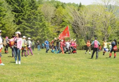 白山·江源仙人谷踏青节,几千人一起登山的画面,你见过吗?