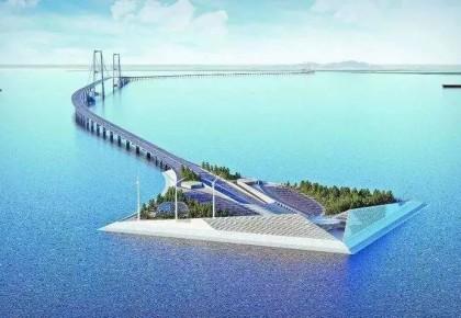 海底,世界首例双向八车道钢壳混凝土沉管隧道正在推进