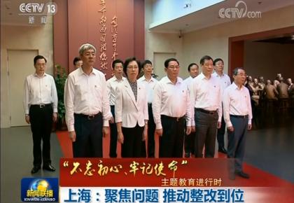 """【""""不忘初心、牢记使命""""主题教育进行时】上海:聚焦问题 推动整改到位"""