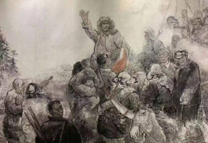 继承爷爷的遗志 ——观大型历史组画《人民英雄杨靖宇》展览