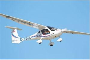 中国首架新能源轻型运动飞机亮相2019西安航展
