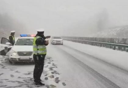受降雪影响,省内多处高速入口关闭